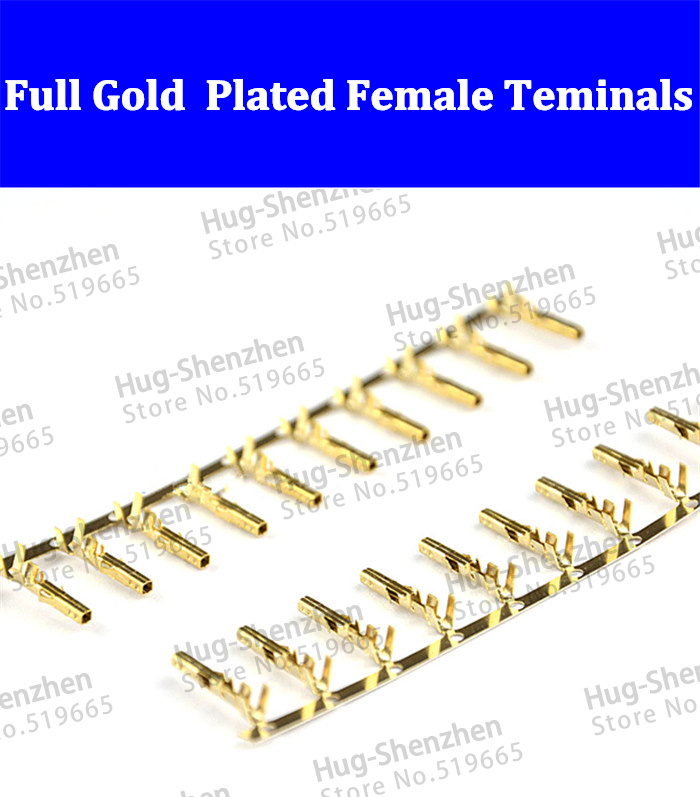 Female 5557 ATX / EPS PCI-E Full Gold Plated terminals Crimp Pins for 4P 6P 8P 10p 12p 14p 16p 18p 24P male connector shell hd 007 surface mounting silver plated surface crimp terminal current 10a male female 250v 7 pins connector