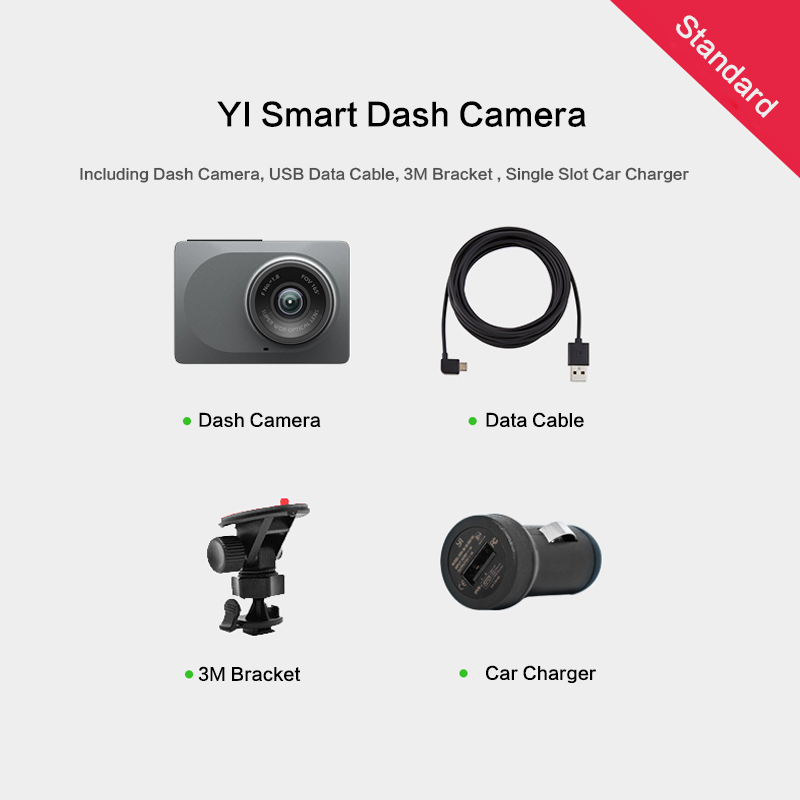 "YI Smart Dash Camera International Version WiFi Night Vision HD 1080P 2.7"" 165 degree 60fps ADAS Safe Reminder Dashboard Camera 6"