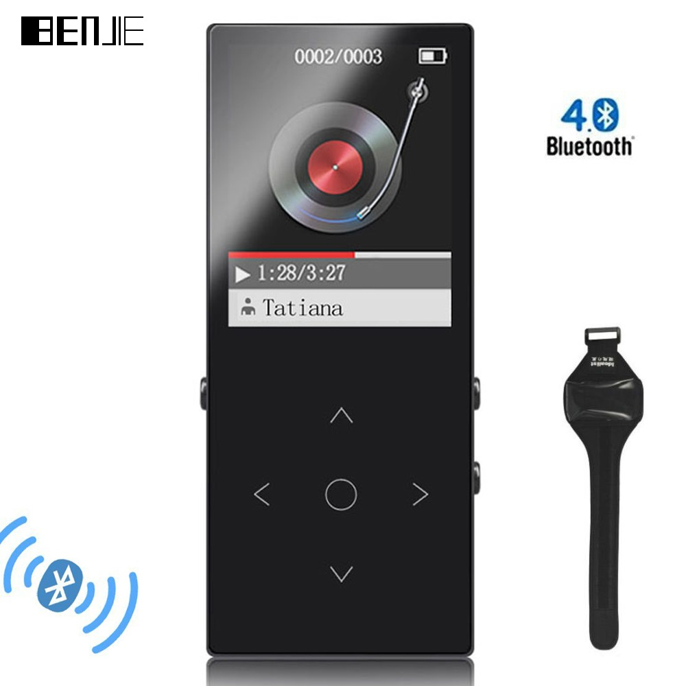 BENJIE 8 mm Thin Bluetooth MP3 Players With Arm Strap 8G Touch Keys Lossless HiFi Music Player with FM E book Video Earphone in HiFi Players from Consumer Electronics
