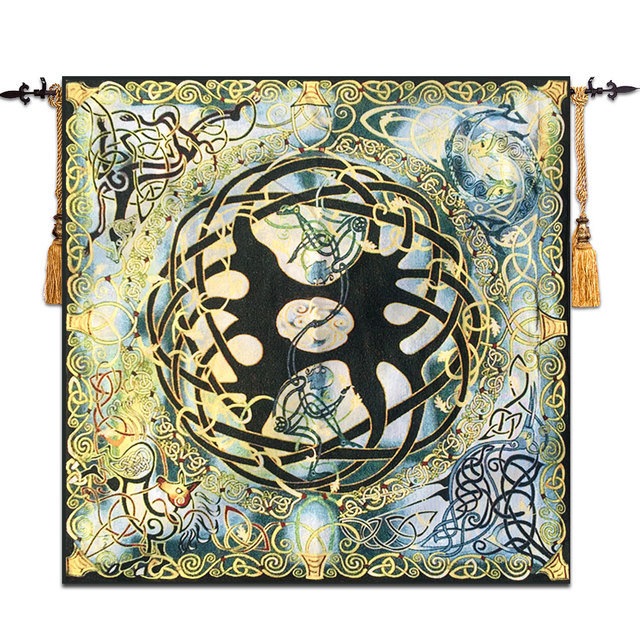 Celtic Tree Of Life Wall Tapestry Gobelin Moroccan Decor Meval Belgium Mandala Hanging Taerie Wandkleed