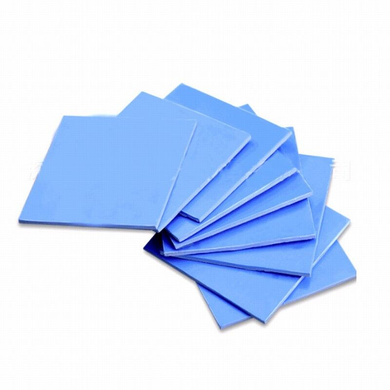 Купить с кэшбэком 8pcs/set 8Size 100x0.5,1,1.5,2,2.5,3,4,5mm Blue White Chip Conductive Silicone Heatsink Thermal Pad