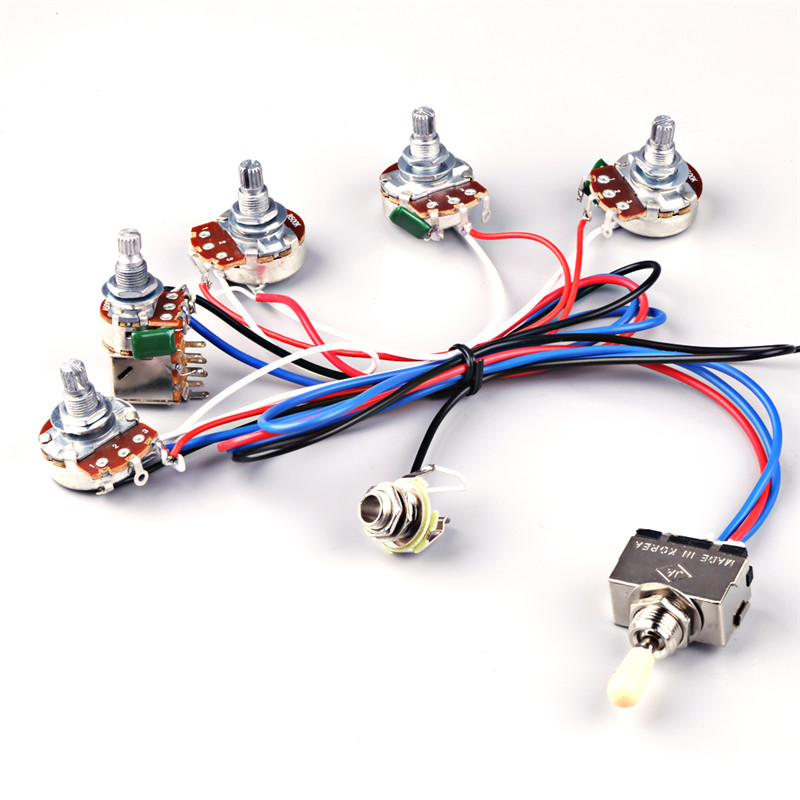 online get cheap gibson parts aliexpress com alibaba group electric guitar wiring harness kit 2v2t pot jack 3 way switch for gibson les paul