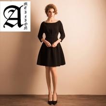 formal special Slim dresses short A-line elegant evening gowns 2019 new simple black dress vestido de noche