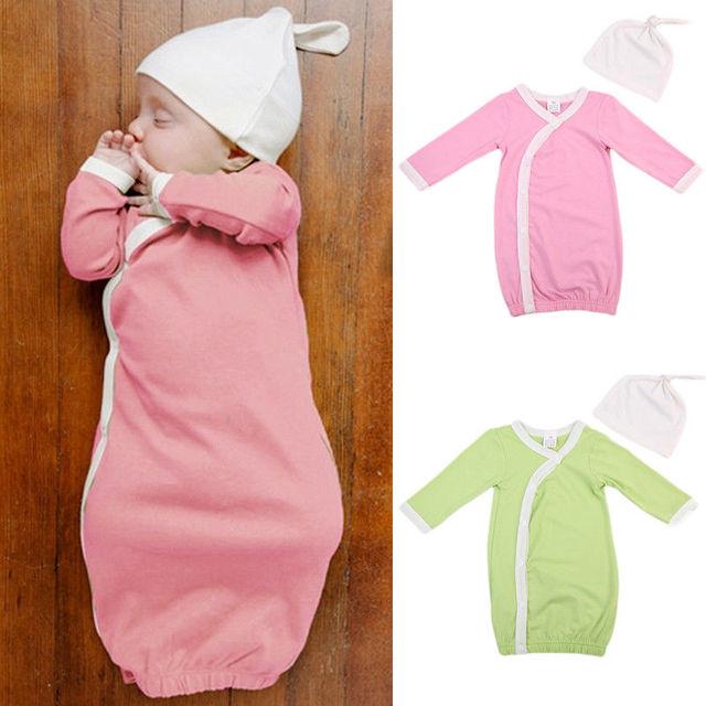 dfc301aa0 Baby Girl Boy Newborn Long Sleeve Buttons up sleeper Infant sleep ...