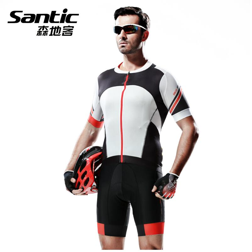 SANTIC Summer Mens Bicycle Clothing Bike Cycling Jerseys Sets Ropa Ciclismo Breathable Short-sleeved M5C05049H actionclub mens winter cycling jerseys sets straps cycling suit long sleeve bicycle bike clothing male breathable running set
