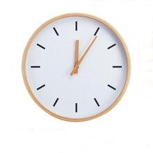 Modern Creaty 12 inch Round Beech Wood Soundless font b Wall b font font b Clock