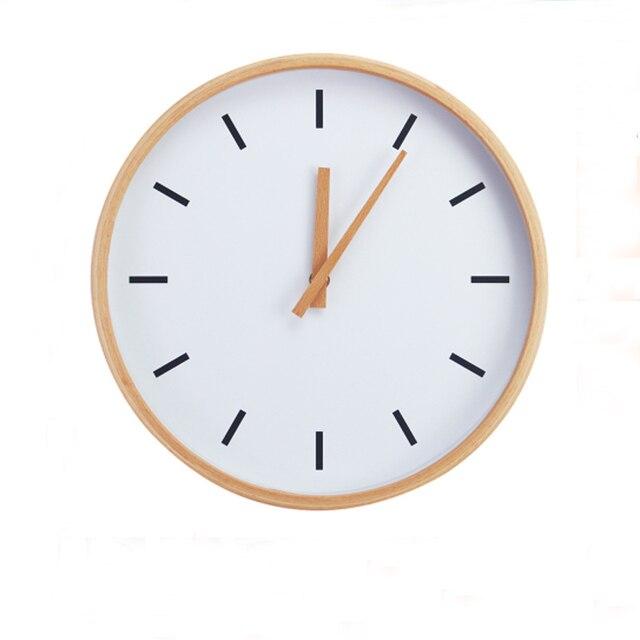 US $85.0  Moderne Creaty 12 zoll Runde Buchenholz Soundless Wanduhr  Wohnzimmer Möbel Dekor Uhr in Moderne Creaty 12 zoll Runde Buchenholz  Soundless ...