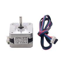 1PC 17HS2408 Round Shaft 4-lead Nema 17 Stepper Motor 42 motor 42BYGH 0.6A CECNC Laser and 3D printer motor