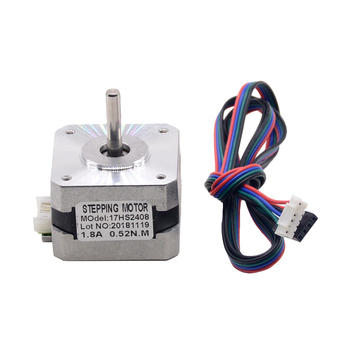 1PC 17HS2408 Round Shaft 4-lead Nema 17 Stepper Motor 42 motor 42BYGH 0.6A CECNC Laser and 3D printer motor