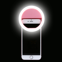 Selfie Ring Light LED Flash Make Up Selfie Photography Phone Ring For iPhone 7 8 Plus X 6S 5S Redmi Note 4X 4A Mi5 One Plus 5(China)