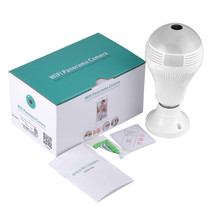 360 Degree Bulb WIFI IP Camera Security Mini Wireless Lamp Cameras Fisheye Panoramic Bulb HD WIFI Network Remote Monitor(China)