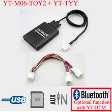 Yatour for Lexus RX 480 RX 300 RX 330 RX 350 2004-2009 With Y cable navi Car stereo USB SD MP3 Player Bluetooth Adapter 6 6 pin