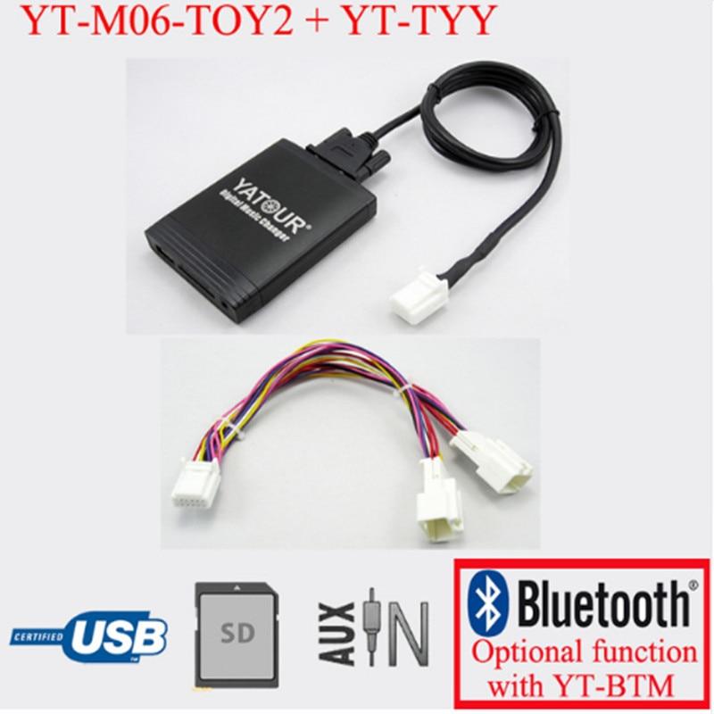 Yatour para Lexus RX 480 RX 300 RX 330 RX 350 2004-2009 Com cabo Y navi Carro estéreo USB Adaptador SD MP3 Player Bluetooth 6 + 6 pin