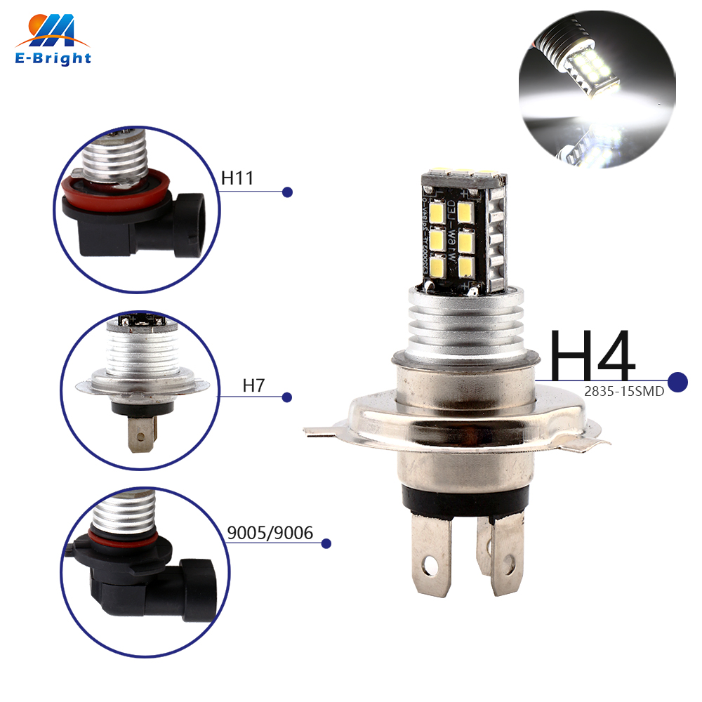 Car Lights Sensible Ym E-bright 2pcs 1156 1157 3156 3157 7443 7440 Ba20d P15d 1680lm Rear Lights 12v 24v Headlights Nonpolarity White