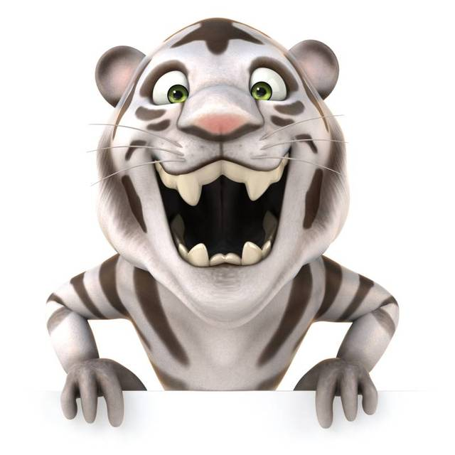 Tigre de Dibujos Animados 3D Modern Impreso Pintura de la Lona sin ...