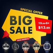 KAT-WACH Для Мужчин's Бизнес часы хронограф аналоговые кварцевые часы Для мужчин Дата светящаяся Водонепроницаемый кожаный ремешок Мода наручные часы