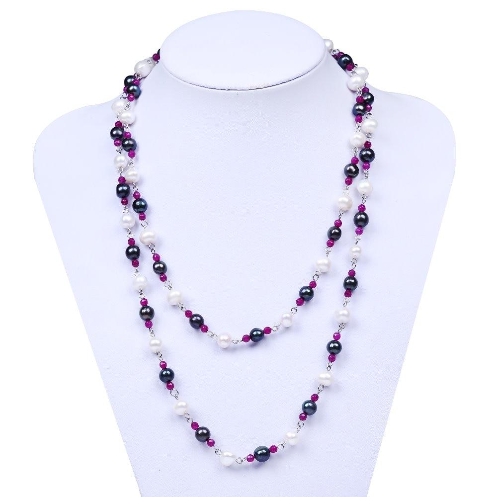 8-9mm de pommes de terre forme perle d'eau douce perles pour bijoux faire long collier femmes pour des cadeaux De Noël