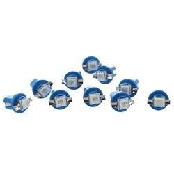 10x SMD светодиодный лампы м приборной панели B8-5D T5 с синим тюнинг автомобильный держатель