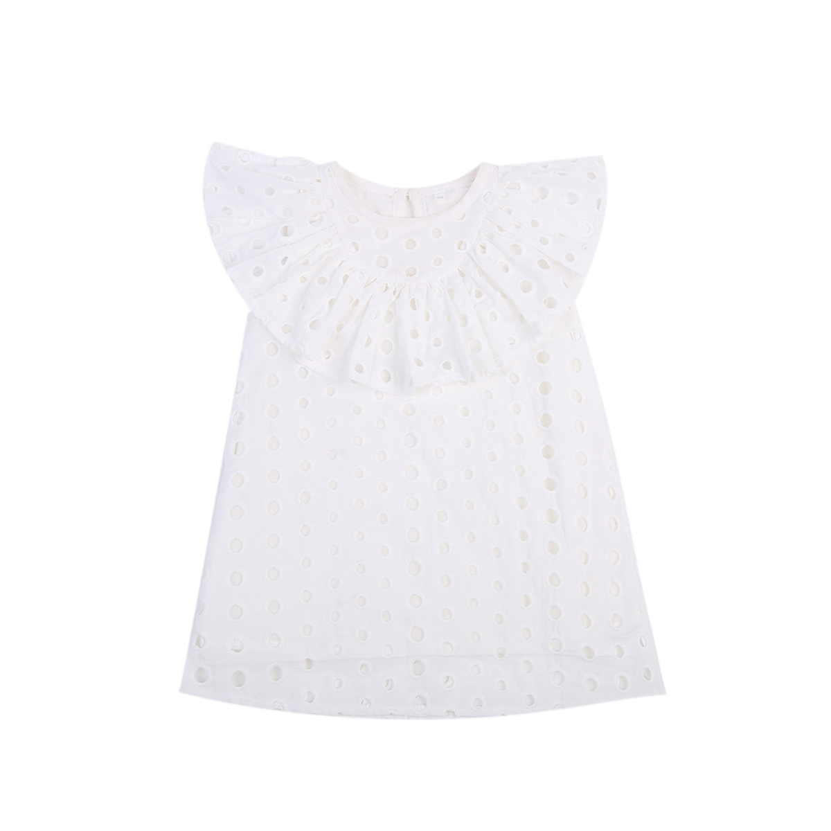 Pretty Toddler Kids Baby Girls Hollow Out Lace Party Mini Sleeveless O-Neck Dress Summer White Sundress Clothes 0-4Y girls tshirt brand hollow sleeveless o neck baby girl shorts solid elastic waist 2 pieces kids clothes girls 2792w
