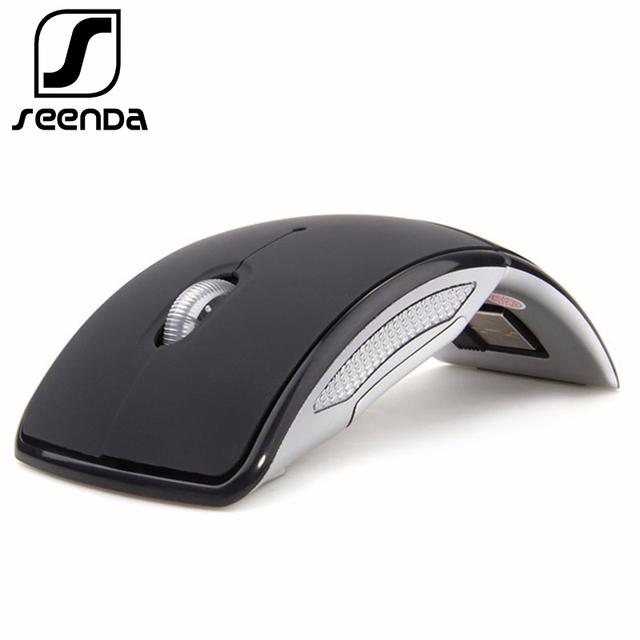 SeenDa 2.4G Wireless Mouse Portable Computer Optical Mouse Foldable Mouse Mini Fold Mice for Laptop PC Desktop Black Friday 2018