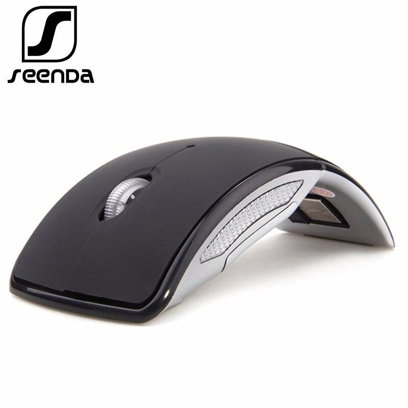 SeenDa 2,4g Drahtlose Maus Tragbaren Computer Optische Maus Faltbare Maus Mini Falten Mäuse für Laptop PC Desktop Schwarz Freitag 2018