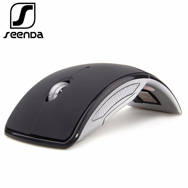 SeenDa Wireless Mouse 2.4G Computer Mouse Foldable Travel Notebook Mute Mouse Mini Mice USB Nano Receiver for Laptop PC Desktop free shipping new original mouse usb receiver g series nano for logitech wireless mouse g602
