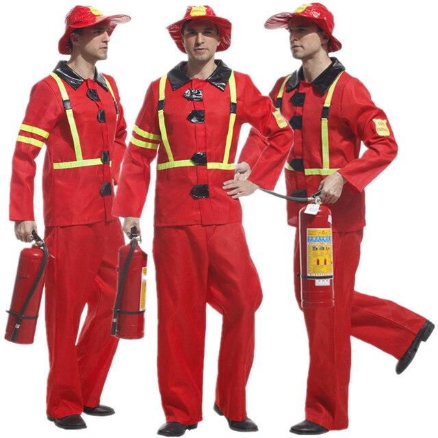 62b6be28898f98 R$ 135.56 5% de desconto Homens Adultos Traje Bombeiro vermelho Natal  Carnaval Dia Das Bruxas Mascarada Festa À Fantasia Vestido De Bombeiro  Bombeiro ...