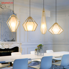 Nordic post-modern diamond restaurant small pendant lamp personality creative background wall lamp bar bedroom aisle lights modern concise creative art fashion white black wall lamp cafe bar restaurant bedroom office aisle decoration lamp free shipping