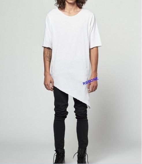 a540bf5b7734 Extended Essential Short Sleeve Asymmetric Cut Round Wide Neck Tee Extended  Essential Long Sleeve Drop Back Under T-shirt tee