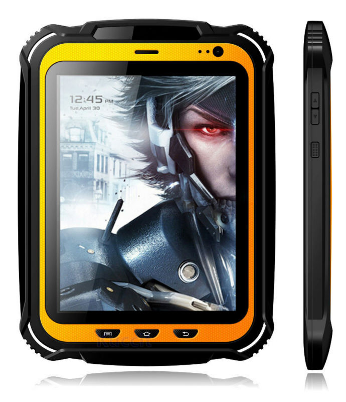 Waterproof Android Rugged Tablet PC 2GB RAM IP67 Smartphone Extreme GPS Shockproof Quad core 7.85 NFC Cell phone 15000mAH RFID rfid 125khz 7 inch fingerprint rugged tablet pc industry pc