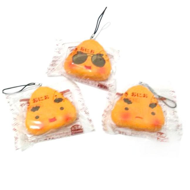 Kuutti Squishy Random 1 pc Lovely Japan Sushi Food emoji rice Kawaii Mobile phone strap New Arrival Hard PU 1