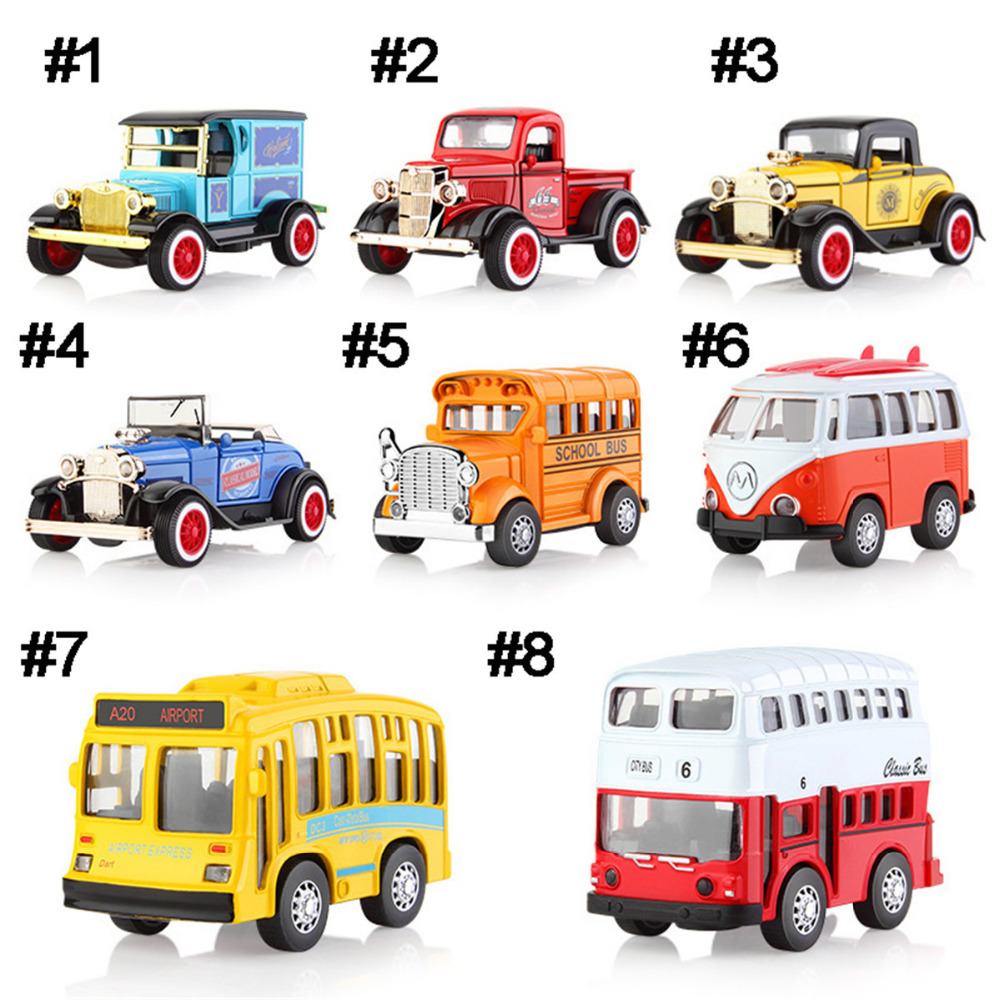 Diecasts & Toy Vehicles Non-control Mini Model Classic Mini Boy Gift Plastic+alloy 1pc car toy light music pull back function