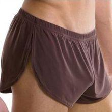 Sexy Mens Boxer Shorts Underwear Ice Silk Low Waist Male Home Lounge