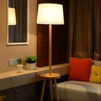 Nordic oak living room floor lamp modern minimalist bedroom vertical lamp to the United States to create solid wood coffee lamps