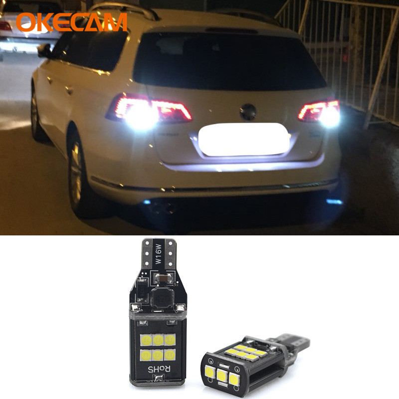 Canbus T15 W16W LED Car Backup Reverse Light Lamp For Volkswagen <font><b>VW</b></font> Passat B7 Tiguan Touareg <font><b>Golf</b></font> 6 <font><b>7</b></font> Jetta Beetle CC EOS <font><b>GTI</b></font> image