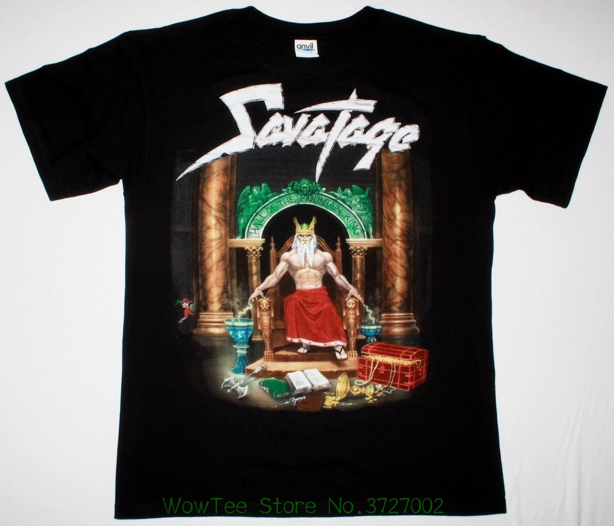 Savatage Hall Of King Black T Shirt Progressive Heavy Metal Men T-shirt Lowest Price 100 % Cotton