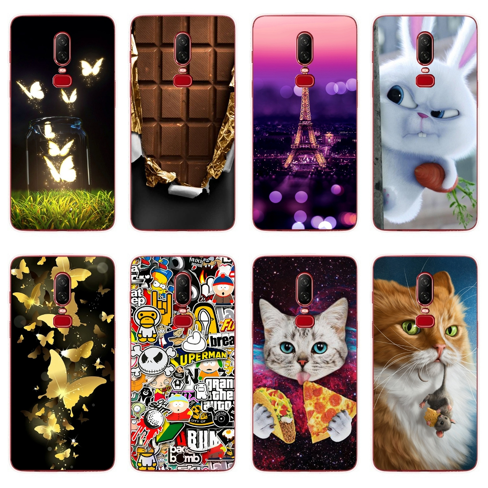 OnePlus 6 3 3t 5t Case Luxury Cartoon Relief OnePlus 5T Case Silicone Cover For OnePlus 5 Phone Case One Plus 6 3 5 T Back Cover