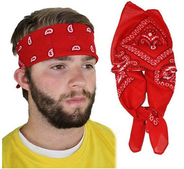 Fashion Men Women Red Paisley Bandana Bandanna Headband Headwear Hair Bands  Scarf Neck Wrist Wrap Headtie Band Free Shipping 2a73c70fd14