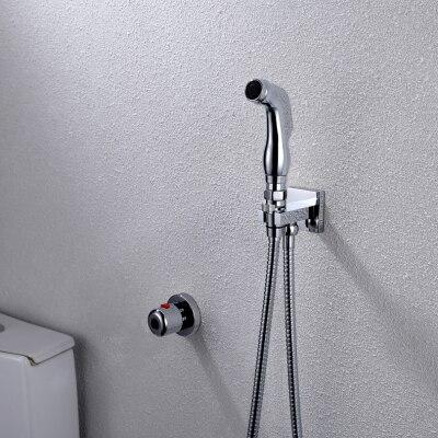 Термостатический ручной Туалет биде кран гигиены Личная Чистка Shattaf опрыскиватель душ комплект роскошный ванная душевая головка - Цвет: A101D