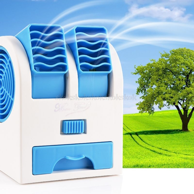 Sinnvoll Tragbare Mini Blattloser Fan Einstellbare Doppel Air Outlet Desktop Usb Cooling Fans Mr27 19 Dropship Hitze Und Durst Lindern.