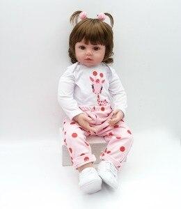 Image 5 - NPK Muñeca de bebé Reborn de silicona suave, muñeca de bebé realista para niños pequeños, regalo de cumpleaños