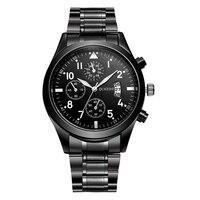 RISTOS Hot Sale Steel Men Watch Top Brand Luxury Fashion Sport Male Quartz Watches Military Waterproof