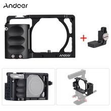 Andoer Video Camera Cage + Hand Grip Kit Film Making System with Cable Clamp for Sony A6000 A6300 A6500 NEX7 to Mount Microphone(China)
