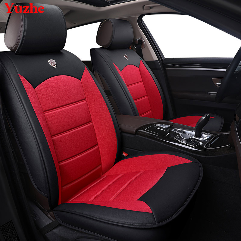 Yuzhe Auto automobiles Leather car seat cover For Mercedes-Benz W169 W176 W245 W246 W203 W204 W203 GLA Car accessories styling kkysyelva universal leather car seat cover set for toyota skoda auto driver seat cushion interior accessories