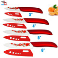 FINDKING Brand High sharp quality Ceramic Knife Set tools 3 4 5 6 Kitchen Knives  with red flower Dropshipping + Covers