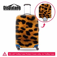 2017 animal printing elastic Waterproof luggage covers,Cool mens leopard travel bag protective cover suitcase for 18 30 inch
