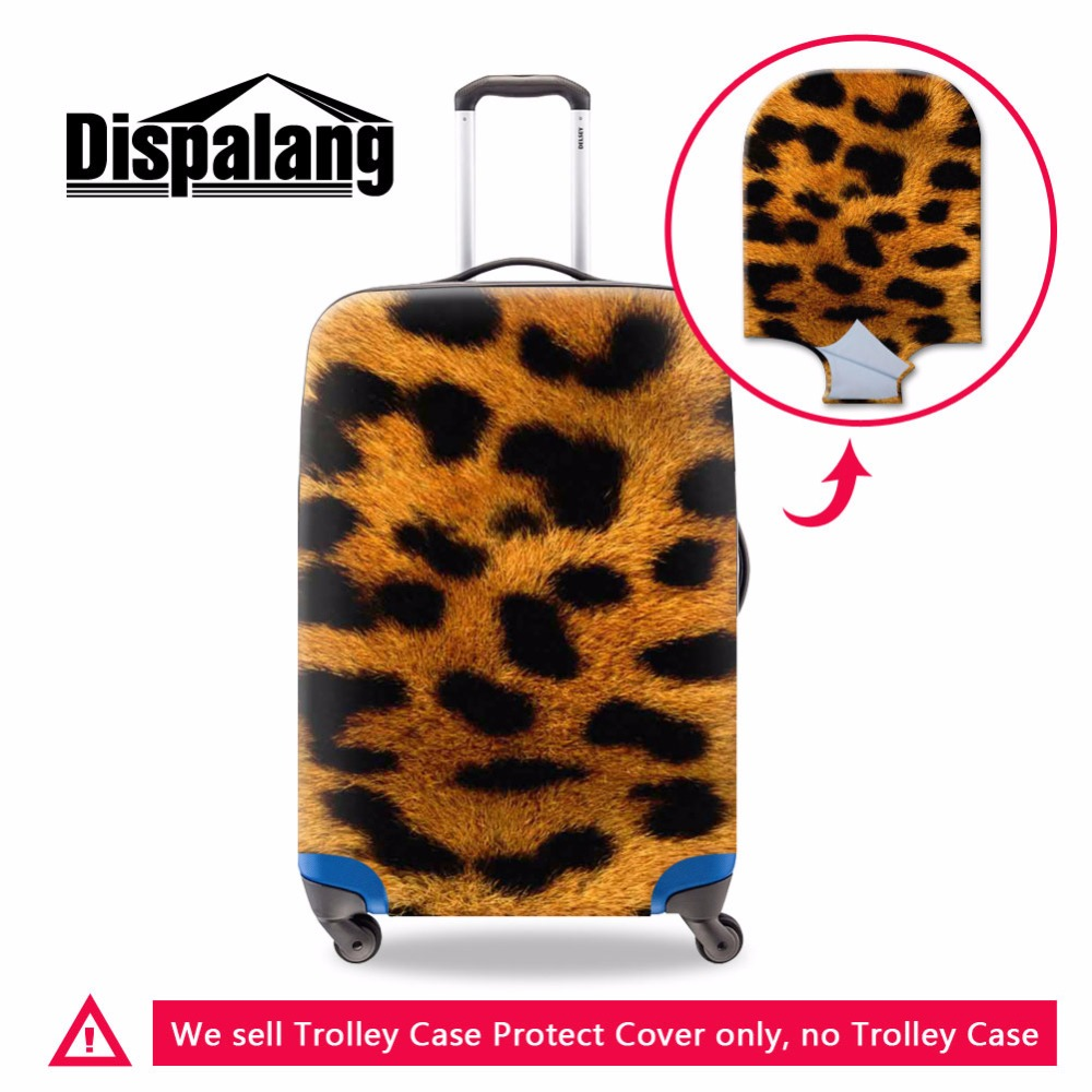 2017 animal printing elastic Waterproof luggage covers,Cool mens leopard travel bag protective cover suitcase for 18-30 inch