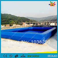 Free shipping swimming pool inflatable pool with free CE/UL blower and repair kit