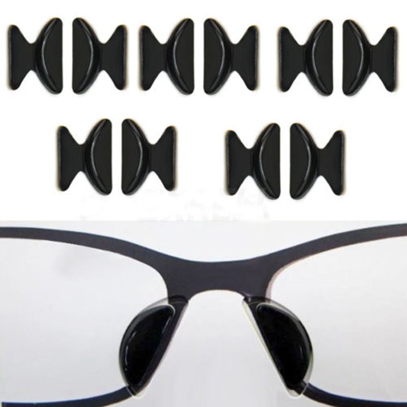 2 Pairs Silicone Soft Sticker Anti-Slip Nose Pads For Eyeglass Sunglass Glasses