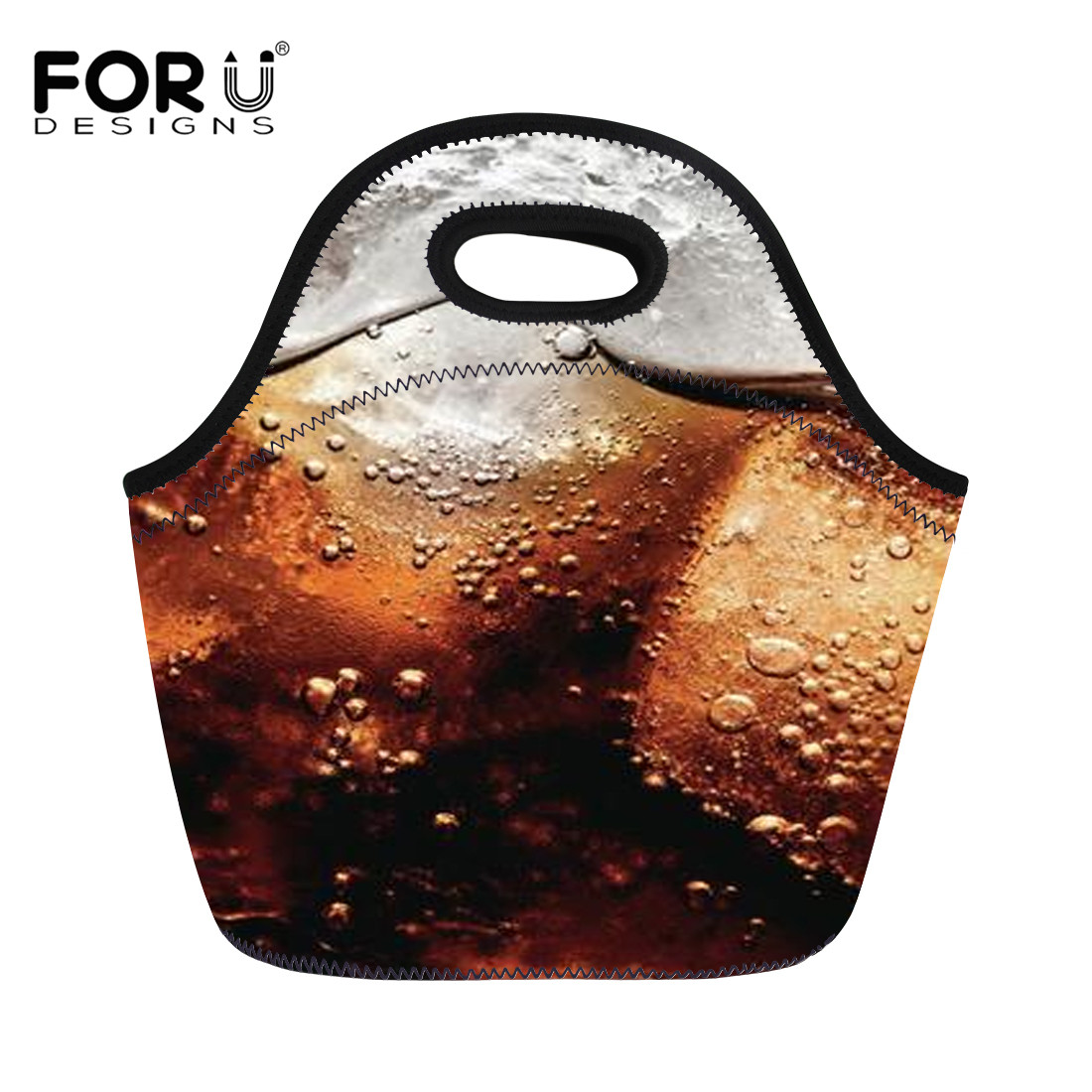 FORUDESIGNS Lunch Bag 2018 New Fashion Kid Women Men Soda Pattern Portable Picnic Insulated Food Storage Box Tote Lunch Bags
